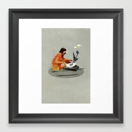 Blind, deaf too | Collage Framed Art Print