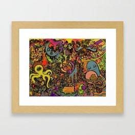 Psychedelic Desert Framed Art Print