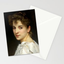 """William-Adolphe Bouguereau """"Portrait of Gabrielle Cot"""" Stationery Cards"""