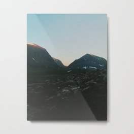 The Mountains Of Lapland  Metal Print