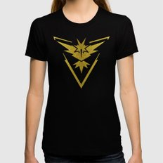Team Instinct Sparkly yellow gold sparkles Black Womens Fitted Tee X-LARGE