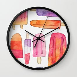 Summer Popsicles Wall Clock