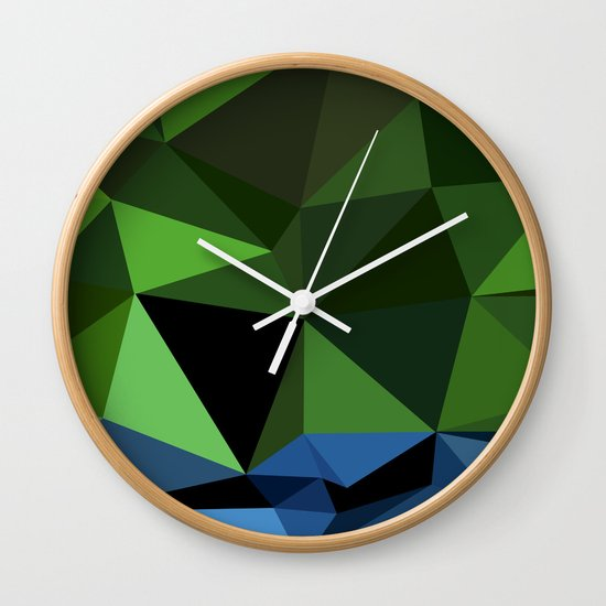 Polygon Heroes - Hulk Wall Clock
