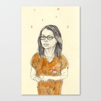 alex vause Canvas Prints featuring Alex Vause by withapencilinhand