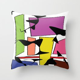 Skewed & Abstract Throw Pillow