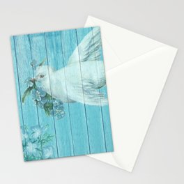 Shabby Chic Dove Of Peace Stationery Cards
