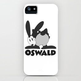 Oswald the Lucky Rabbit: The End (B/W) iPhone Case