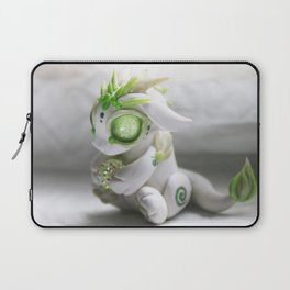 White and Green Bitty Baby Dragon Laptop Sleeve