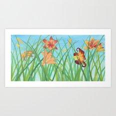 Lilly Garden Art Print