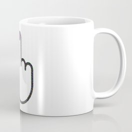 Cool Pop Art Middle Finger (white on white) Coffee Mug