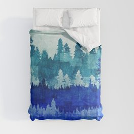 The Blue Forest Moon Comforters