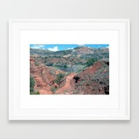 palo alto Framed Art Prints featuring Palo Duro Canyon by deleas