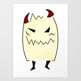 Everyone has a little demon inside Art Print