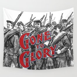 Gone To Glory / Vintage typography redrawn and repurposed Wall Tapestry