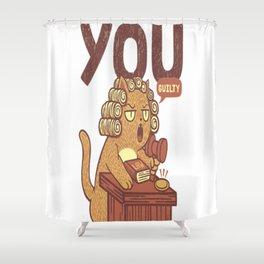 I'm Judging You Cat T-Shirt Shower Curtain
