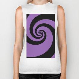 Purple swirls Biker Tank