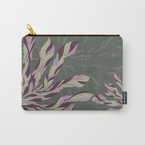 Flower Power Rose/Green Carry-All Pouch