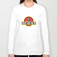 parks Long Sleeve T-shirts featuring Jurassic Parks And Rec by anthonykun