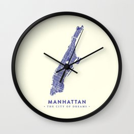 Manhattan Map NYC Wall Clock