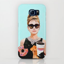 Breakfast at Dunkin Donuts - Audrey Hepburn iPhone Case