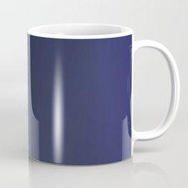 Pink ethno dots on blue deep Coffee Mug