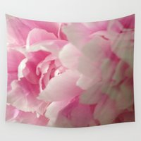 peony Wall Tapestries featuring Peony by mini Q