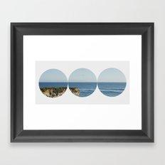 ROUND OCEAN Framed Art Print