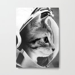 Astronaut Cat #3 Metal Print
