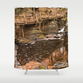 Swirling Bushkill Fall Stream Shower Curtain