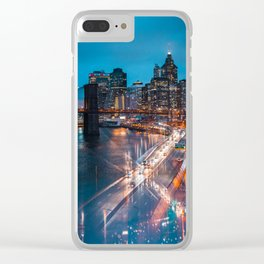 Evening Reflections Clear iPhone Case