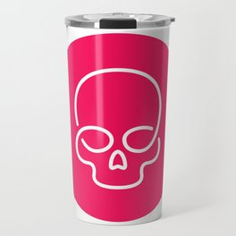 Red dot skull Travel Mug