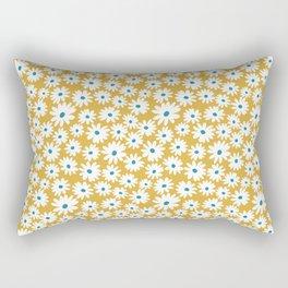 Daisies - Spring - Yellow Rectangular Pillow