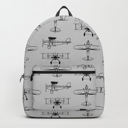 Biplanes // Silver Backpack