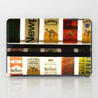 cigarette iPad Cases featuring Cigarette Machine by Lesley Ross Media