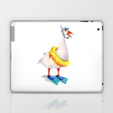 Snorkeling Goose Laptop & iPad Skin