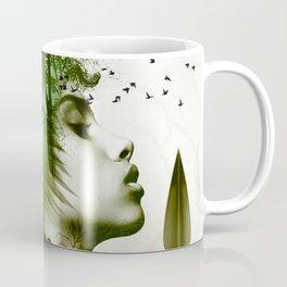 Teal Afro Coffee Mug