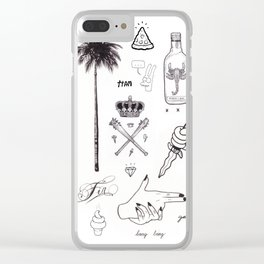 B&W Flash Clear iPhone Case