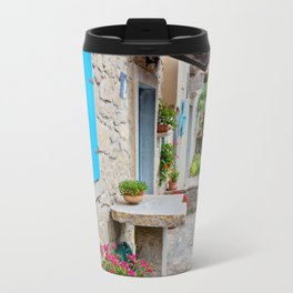 Town of Hum old cobbled street view Travel Mug