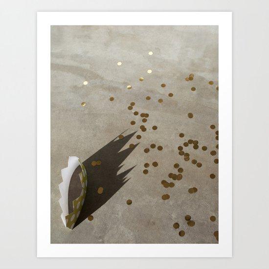crown + confetti Art Print