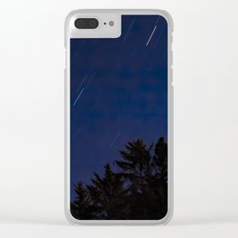 Meteor Shower Clear iPhone Case