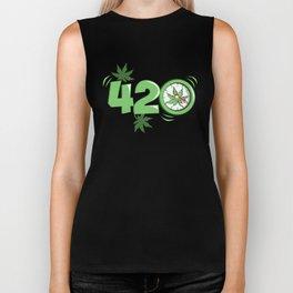 It's 420 Time Biker Tank