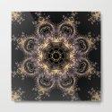 Purple and Gold Fractal Kaleidoscope 2 by dweezal