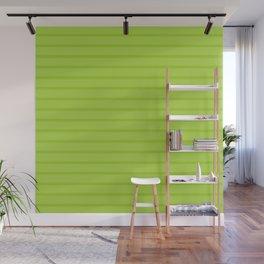 Green Monochrome Horizontal Stripes Pattern Wall Mural