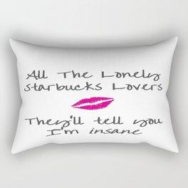 T Swift's long list of ex-lovers drink Starbucks.. Rectangular Pillow