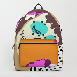 Sugar Skull Halloween Girls Orange Backpack