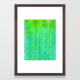 Playing in the Acid Rain ... as explored through mixed media Framed Art Print