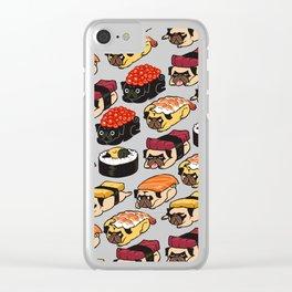 Sushi Pug Clear iPhone Case