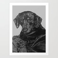dachshund Art Prints featuring Dachshund by Natasha Maiklem