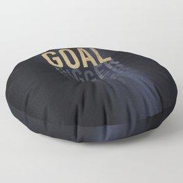 Goal Digger - Gold on Black Floor Pillow