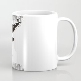 art word black dripping bird knights arm sword Coffee Mug